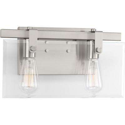 Glayse Collection 2-Light Brushed Nickel Bath Light