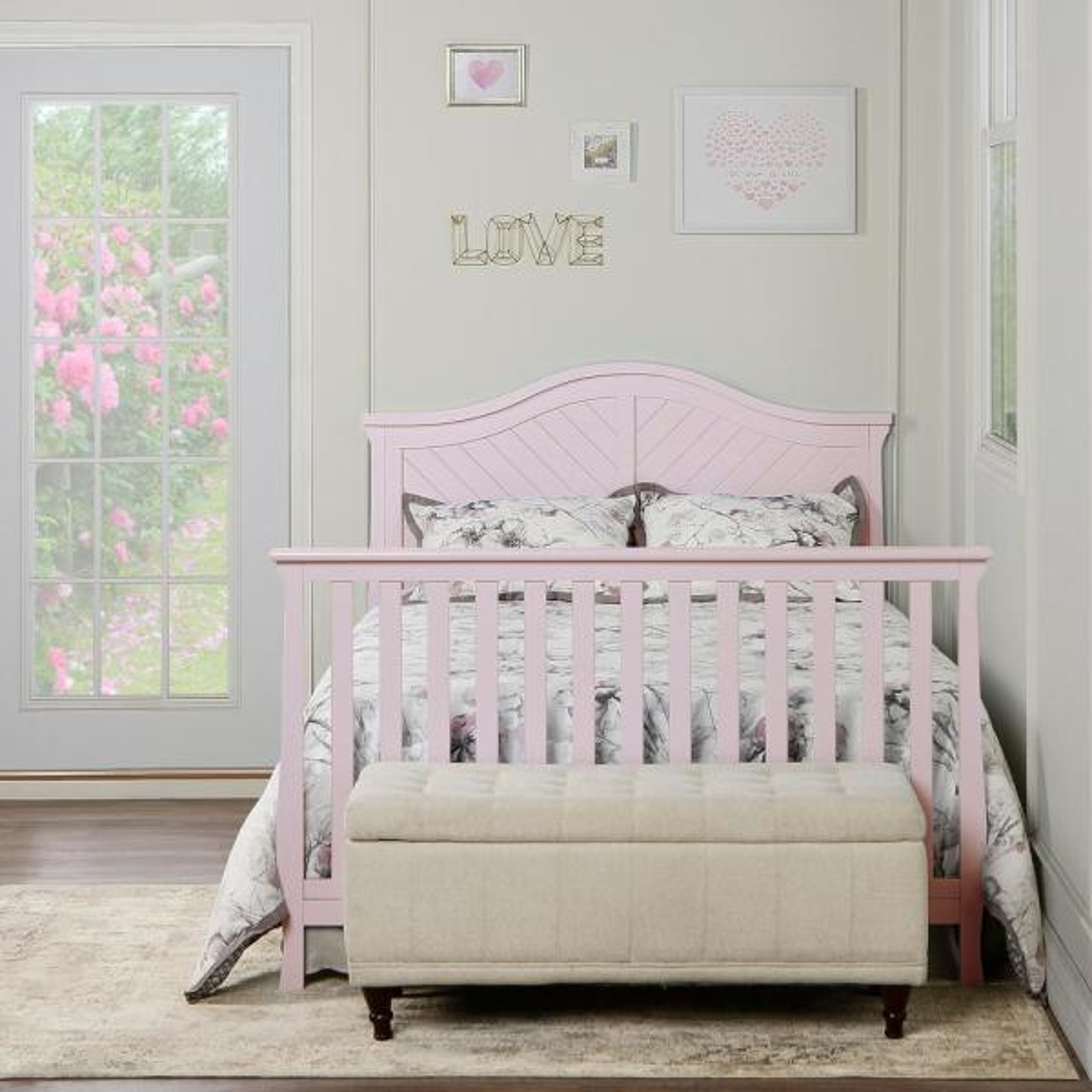 Universal Blush Pink Full Size Bed Rail
