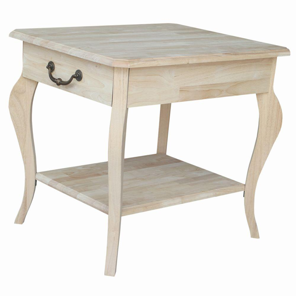 International Concepts Cambria Unfinished End Table. International Concepts Cambria Unfinished End Table OT 18E   The