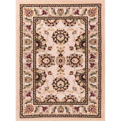 Dulcet Alana Ivory 9 ft. x 13 ft. Traditional Area Rug