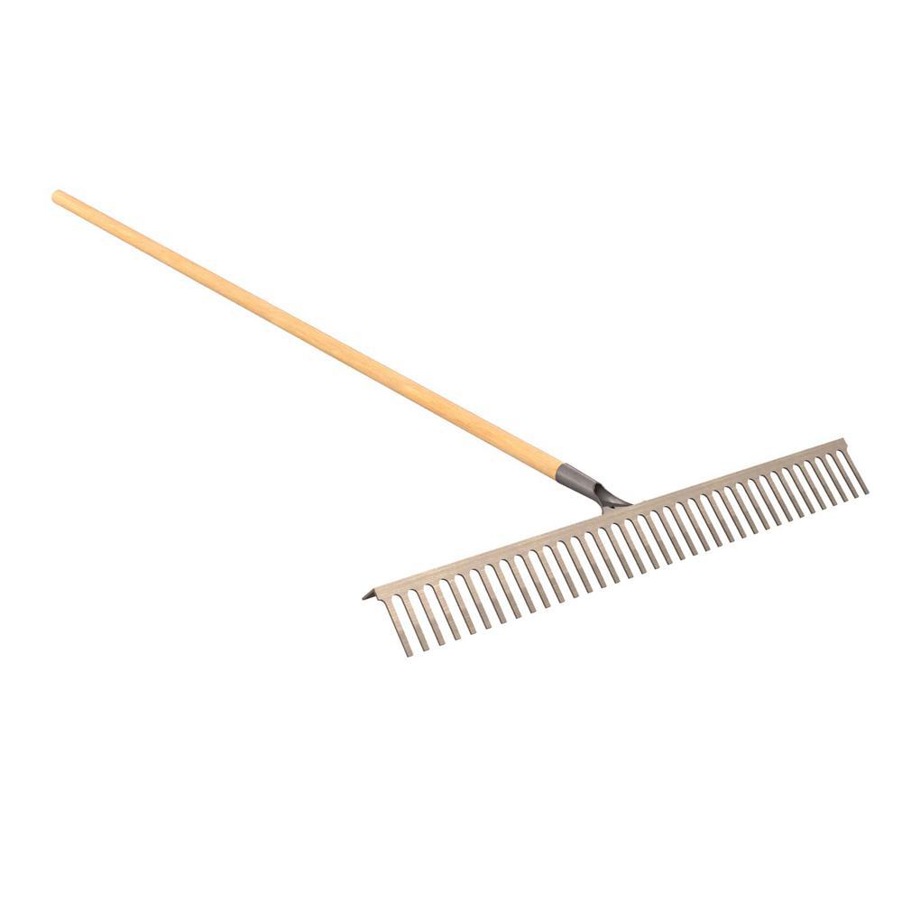 Bon Tool 5 ft. Wood Handle 42 in. Econo Landscape Lawn Rake