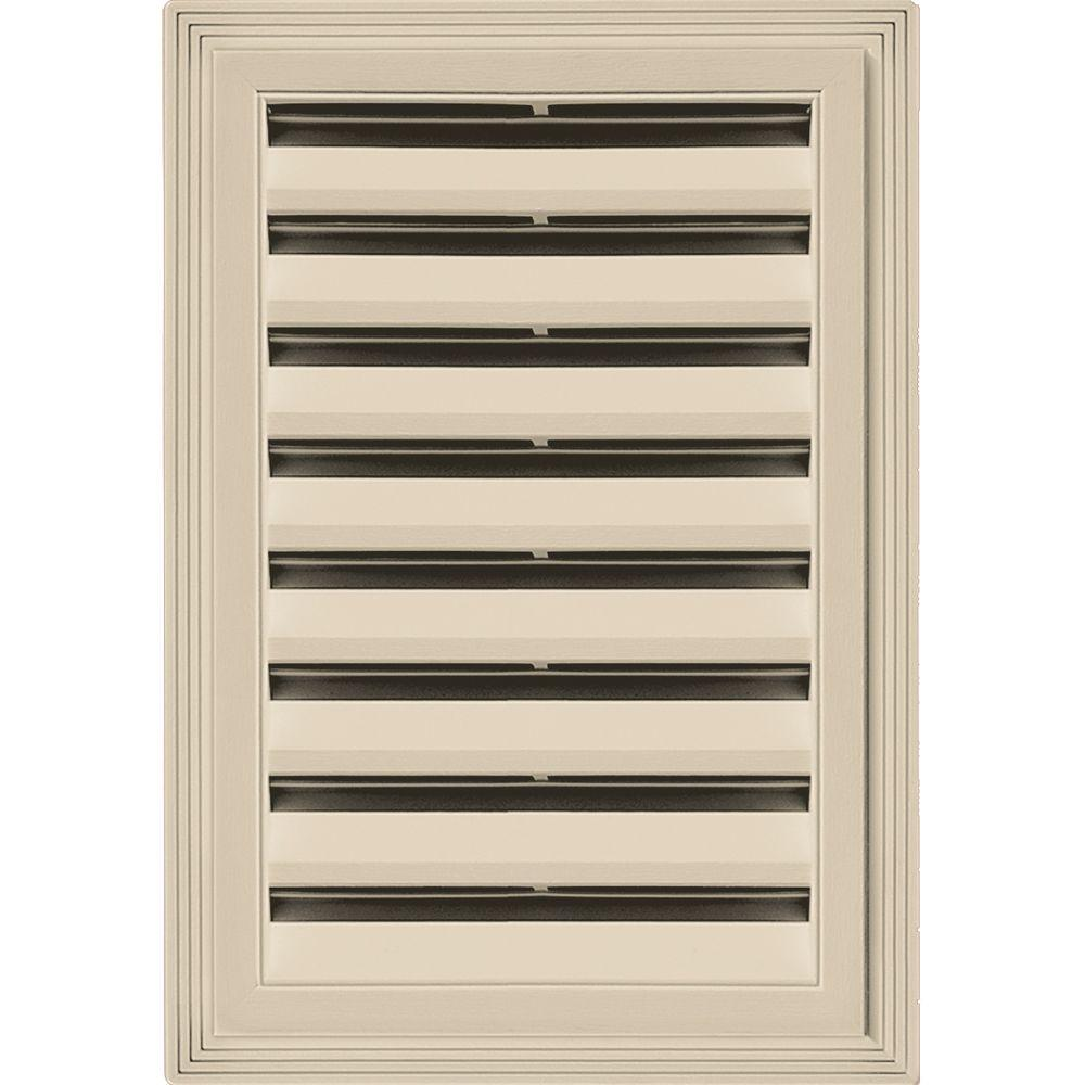 12 in. x 18 in. Rectangle Gable Vent #011 Sandalwood