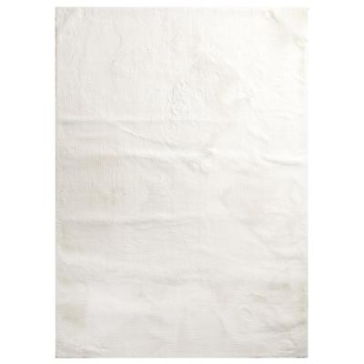 Bazaar Piper Snow 5 ft. x 7 ft. Solid Polyester Area Rug