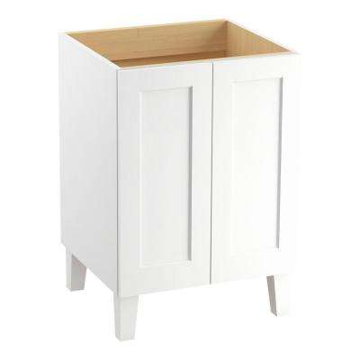 Poplin 24 in. Bath Vanity Cabinet Only in Linen White