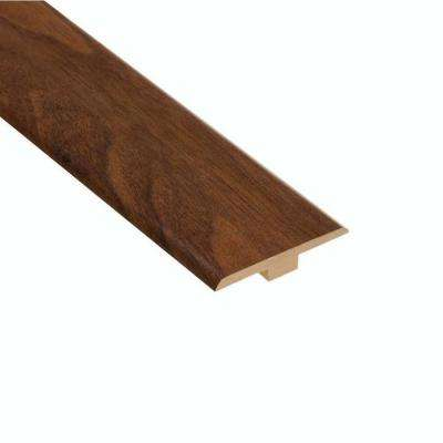 High Gloss Monterrey Walnut 1/4 in. Thick x 1-7/16 in. Wide x 94 in. Length Laminate T-Molding