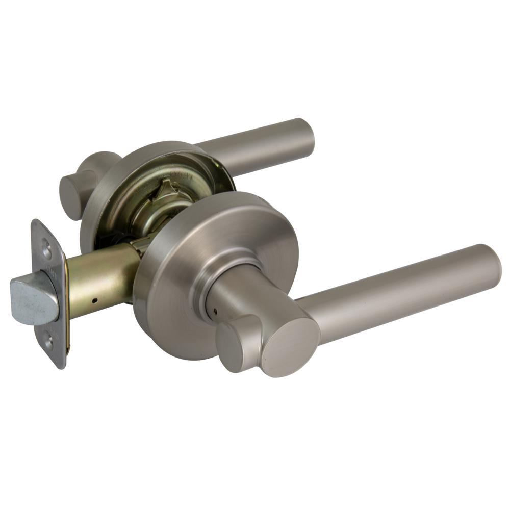 Defiant Woodbridge Satin Nickel Passage Door Lever With