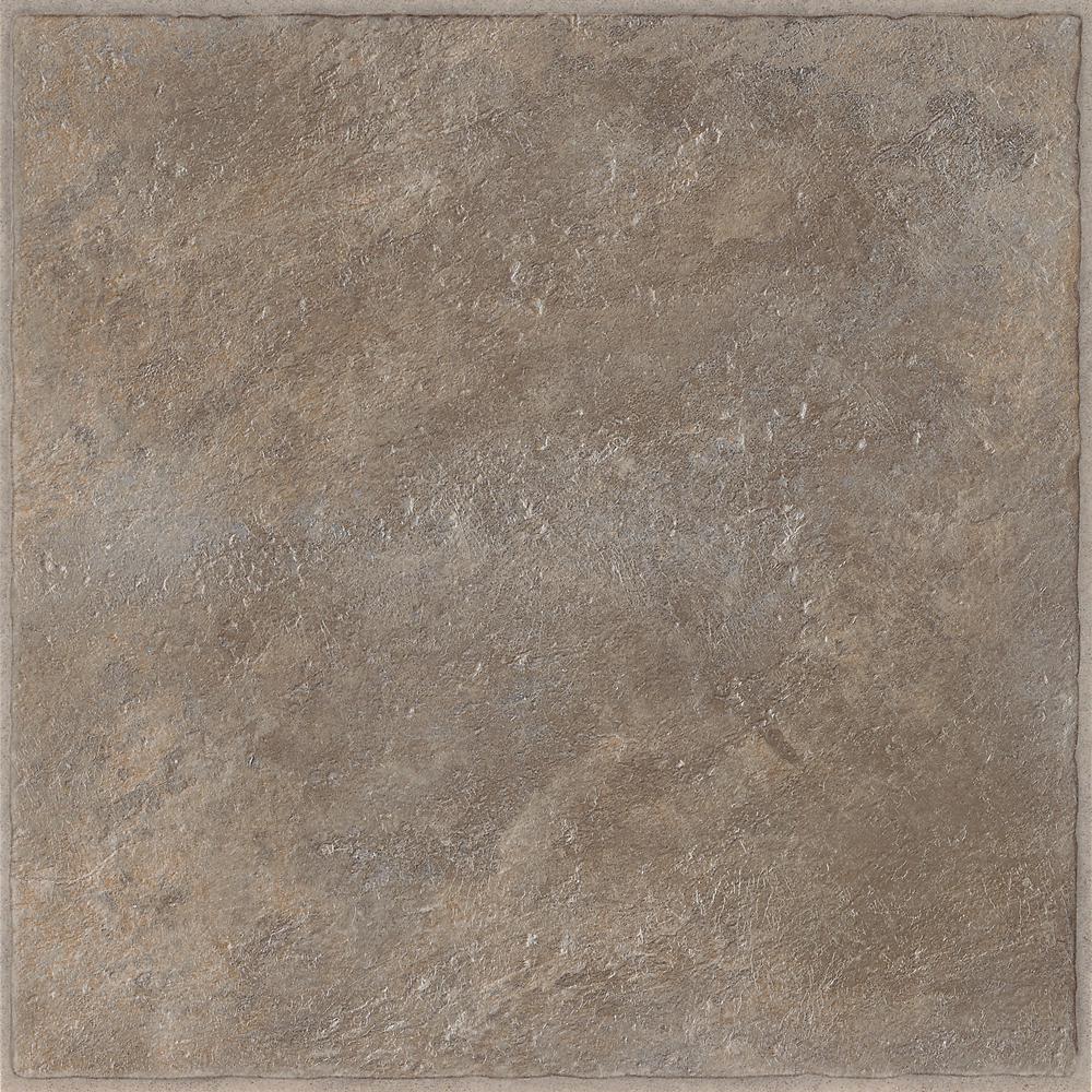 Carlsbad III Smoke 12 in. x 12 in. Residential Peel and Stick Vinyl Tile Flooring (45 sq. ft. / case)