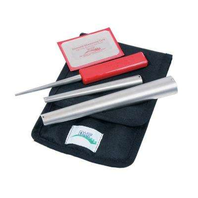 DMT Handheld Sharpener Kit for Turners and Carvers in Cloth Tool Case, Includes All Fine Cones Plus D3F