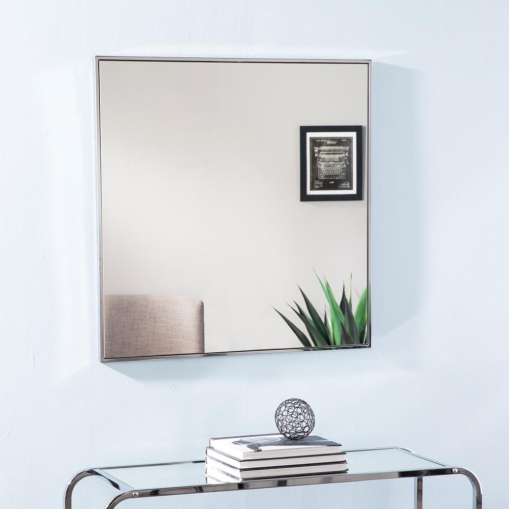 Jenter Silver Square Decorative Wall Mirror