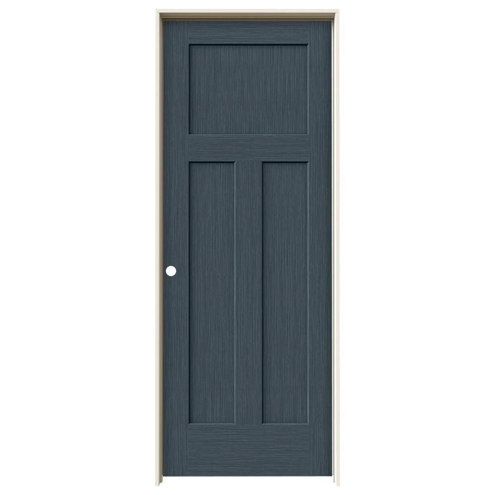 Jeld wen 32 in x 80 in craftsman denim stain right hand for Mdf solid core interior doors