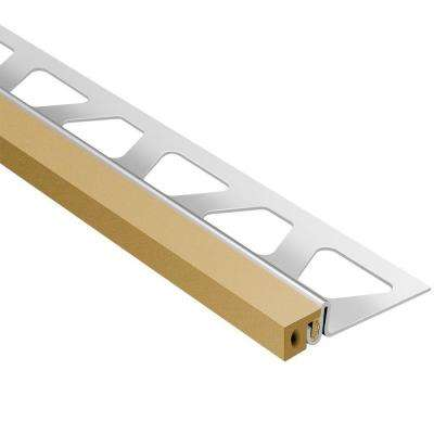 Dilex-KSA Stainless Steel with Light Beige Insert 5/8 in. x 8 ft. 2-1/2 in. Metal Movement Joint Tile Edging Trim