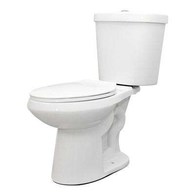 2-piece 1.1 GPF/1.6 GPF High Efficiency Dual Flush Complete Elongated Toilet in White, Seat Included (3-Pack)