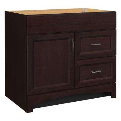 Moorevale 36 in. W x 21 in. D x 33.5 in. H Bath Vanity Cabinet Only in Java