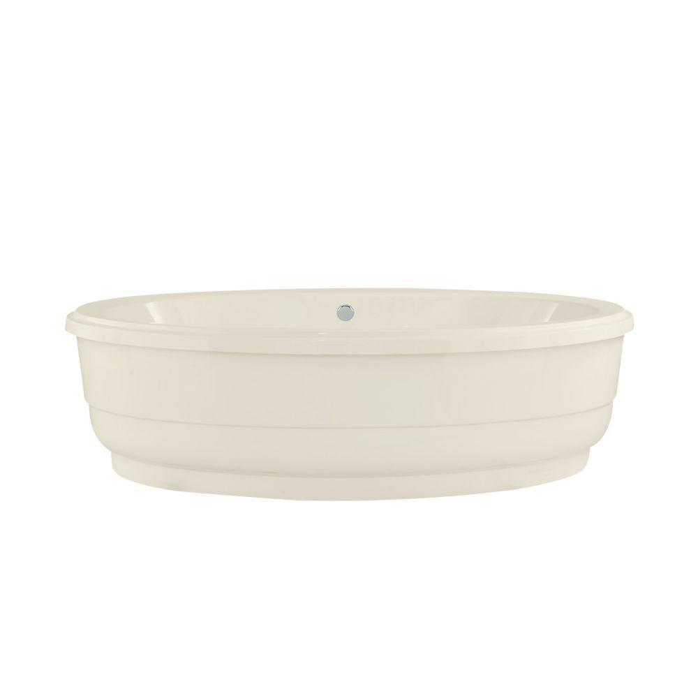 Santa Fe 6 ft. Center Drain Soaking Tub in Biscuit