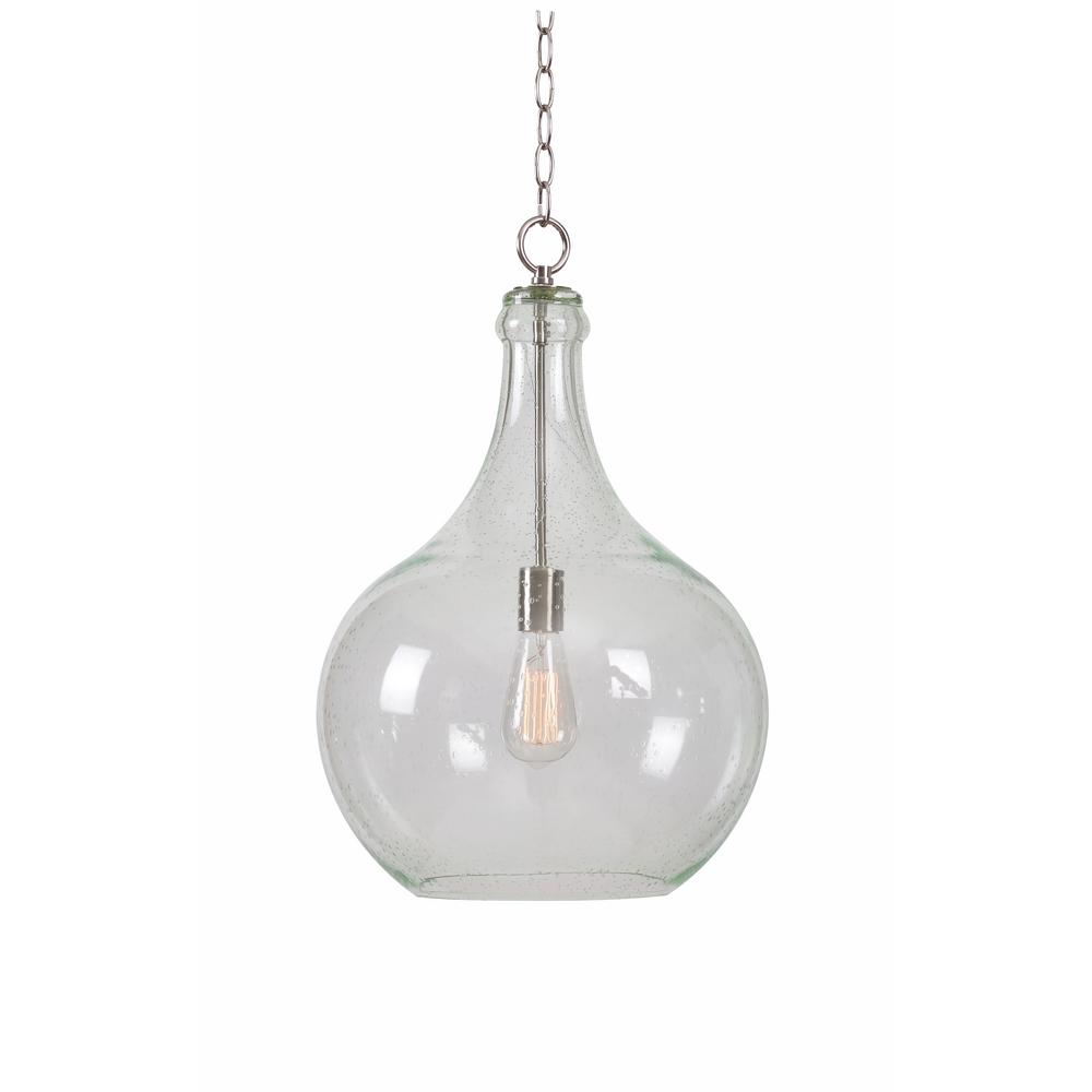 Rhone 1-Light Steel Pendant