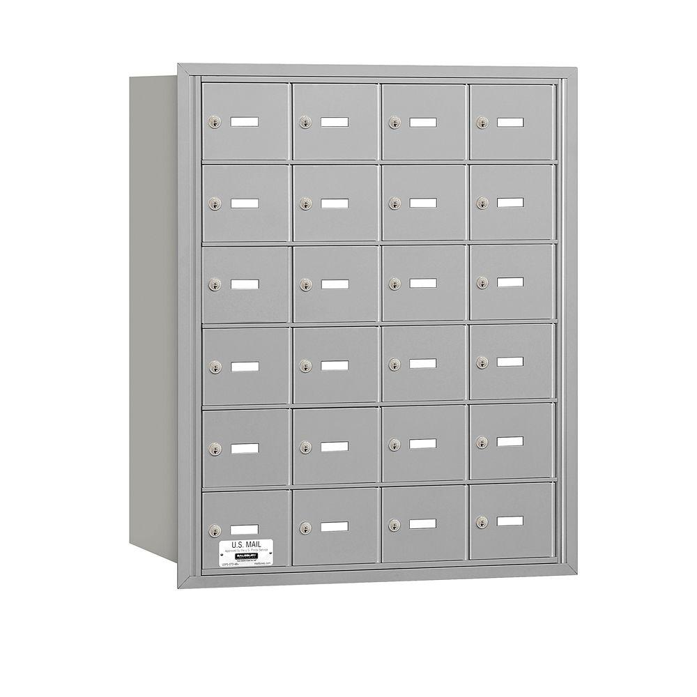3600 Series Aluminum Private Rear Loading 4B Plus Horizontal Mailbox with
