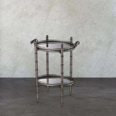 Tyrella Antique Silver Tray Side Table