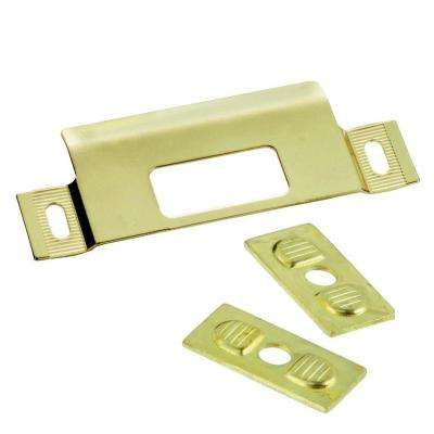 Polished Brass Adjustable Door Strike
