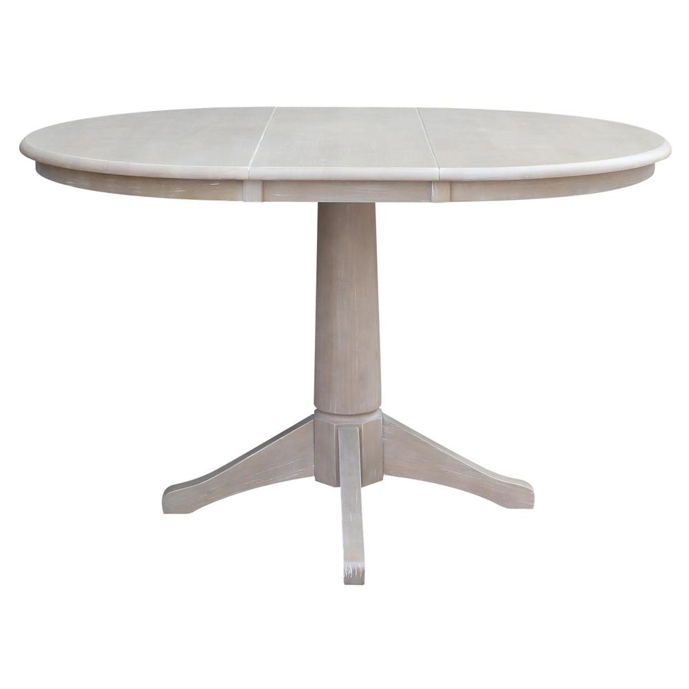International Concepts In X In X In H Gray Extension - 36 x 48 dining table with leaf