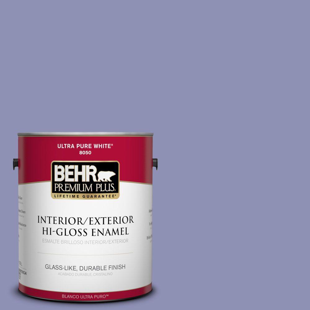 1-gal. #630D-5 Wild Wisteria Hi-Gloss Enamel Interior/Exterior Paint
