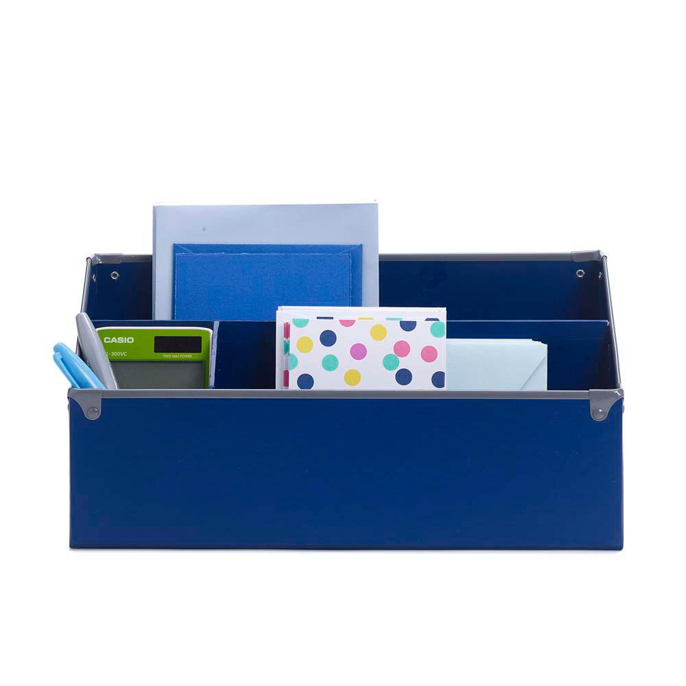 Frisco Desk Organizer, Navy and Gray
