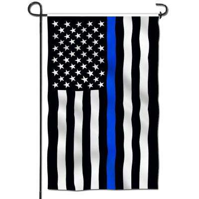18 in. x 12.5 in. Double Sided Premium Thin Blue Line USA Decorative Garden Flags Weather Resistant Double Stitched