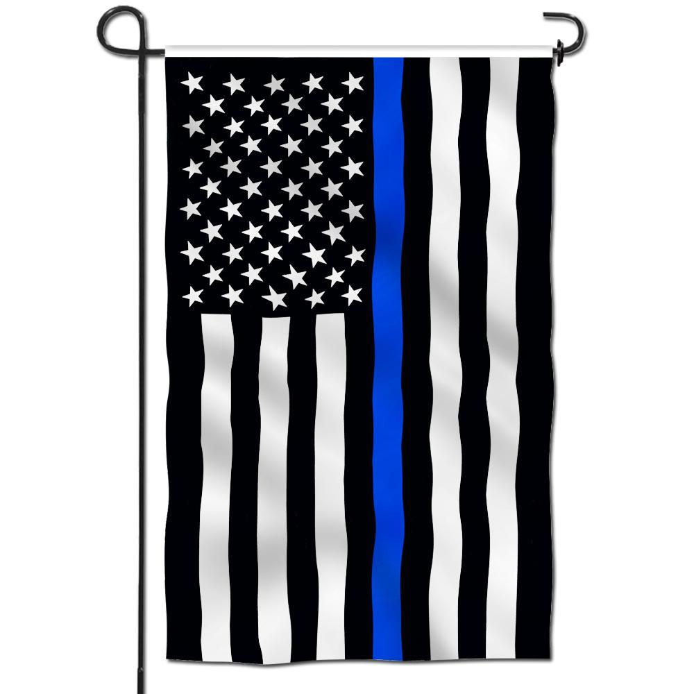 I Stand Behind Thin Blue Line American Garden Yard Flag