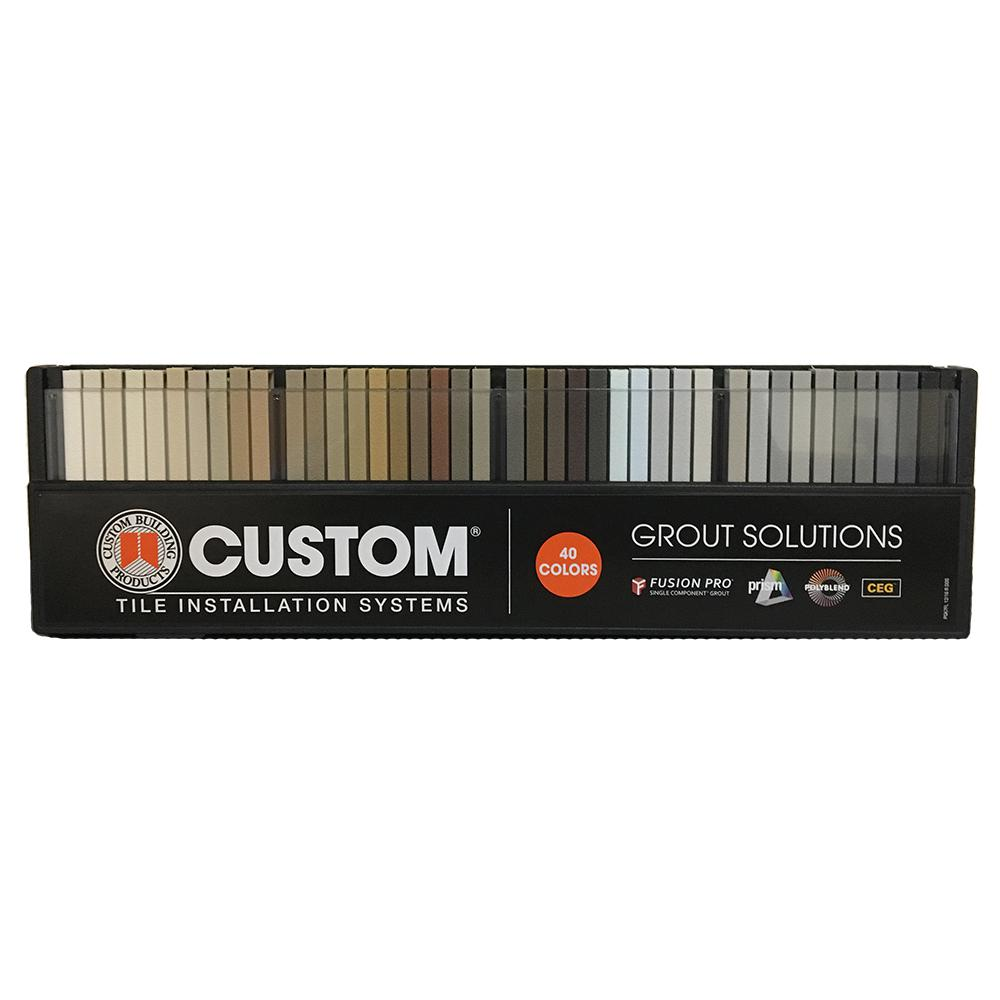 Custom Building Products Grout Solutions Color Sample Kit 40 Colors