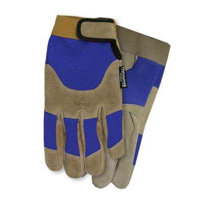 Blue PBR Suede Lined Glove