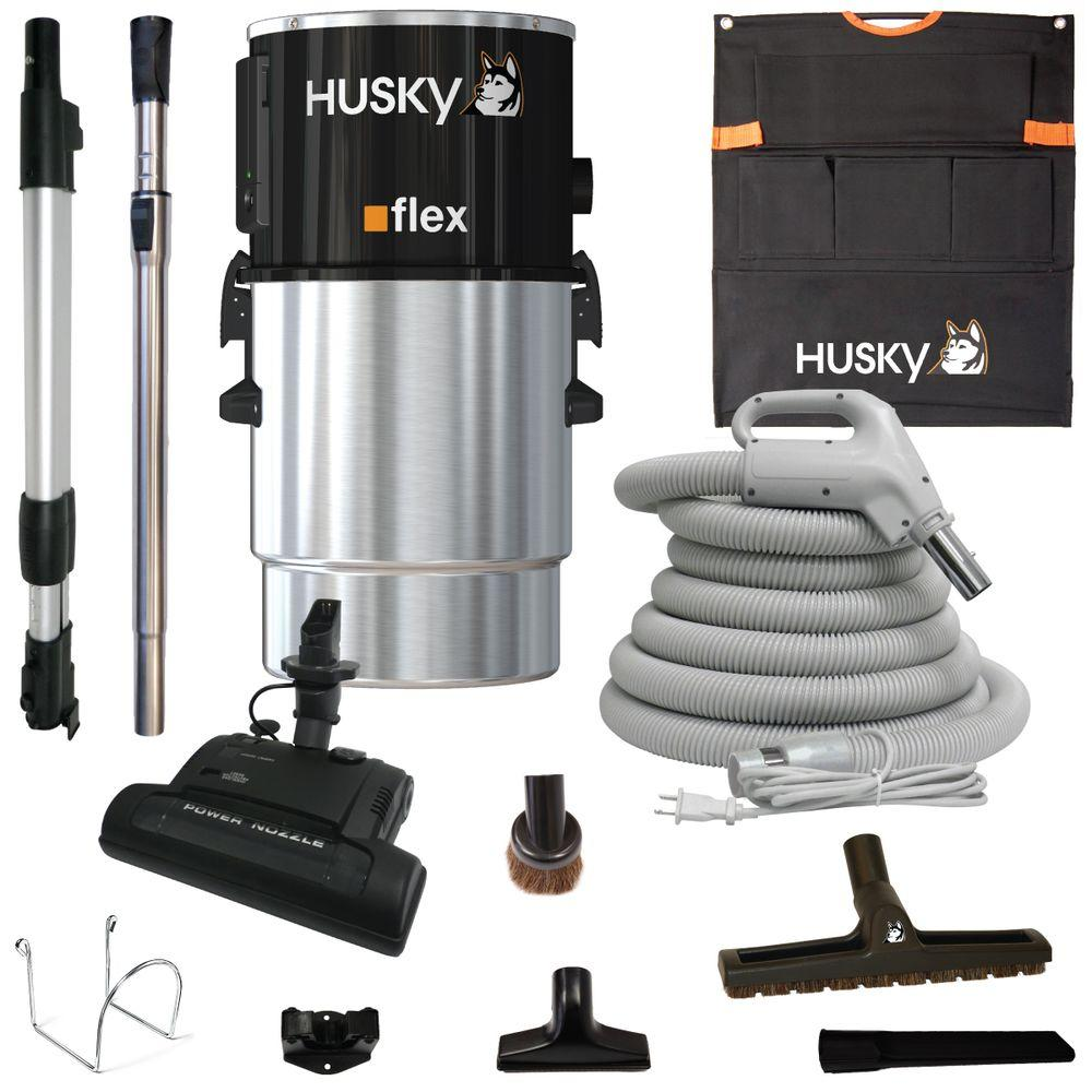 Husky Central Vacuum Flex With Accessories And Electric Head