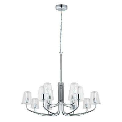 Noventa 100-Watt Chrome Integrated LED Chandelier