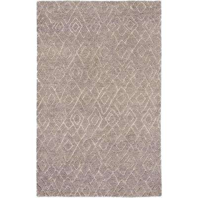 Kaizuka Taupe 6 ft. x 9 ft. Indoor Area Rug
