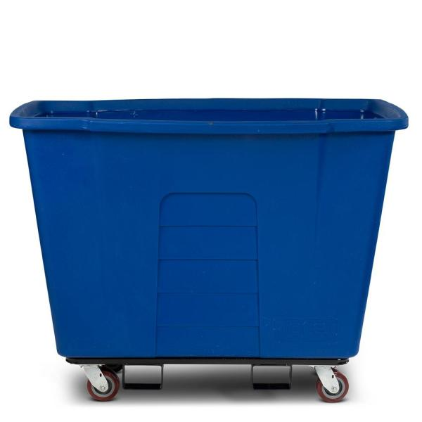 Toter 1 Cubic Yard 1 000 Lbs Capacity Towable Mobile Truck Blue Amt10 00blu The Home Depot