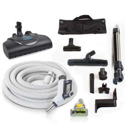 Premium 35 ft. Universal Central Vacuum Hose Kit With Wessel Werk Power Nozzle and 6 ft. Pigtail Cord