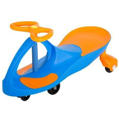 Ride on Toy Wiggle Car in Blue/Orange