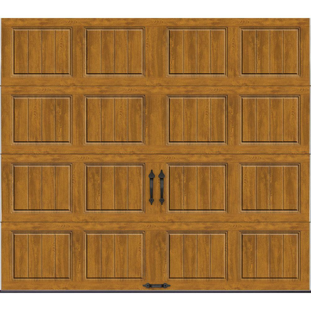 Clopay Gallery Collection 8 ft. x 7 ft. 6.5 R-Value Insulated Solid Ultra-Grain Medium Garage Door