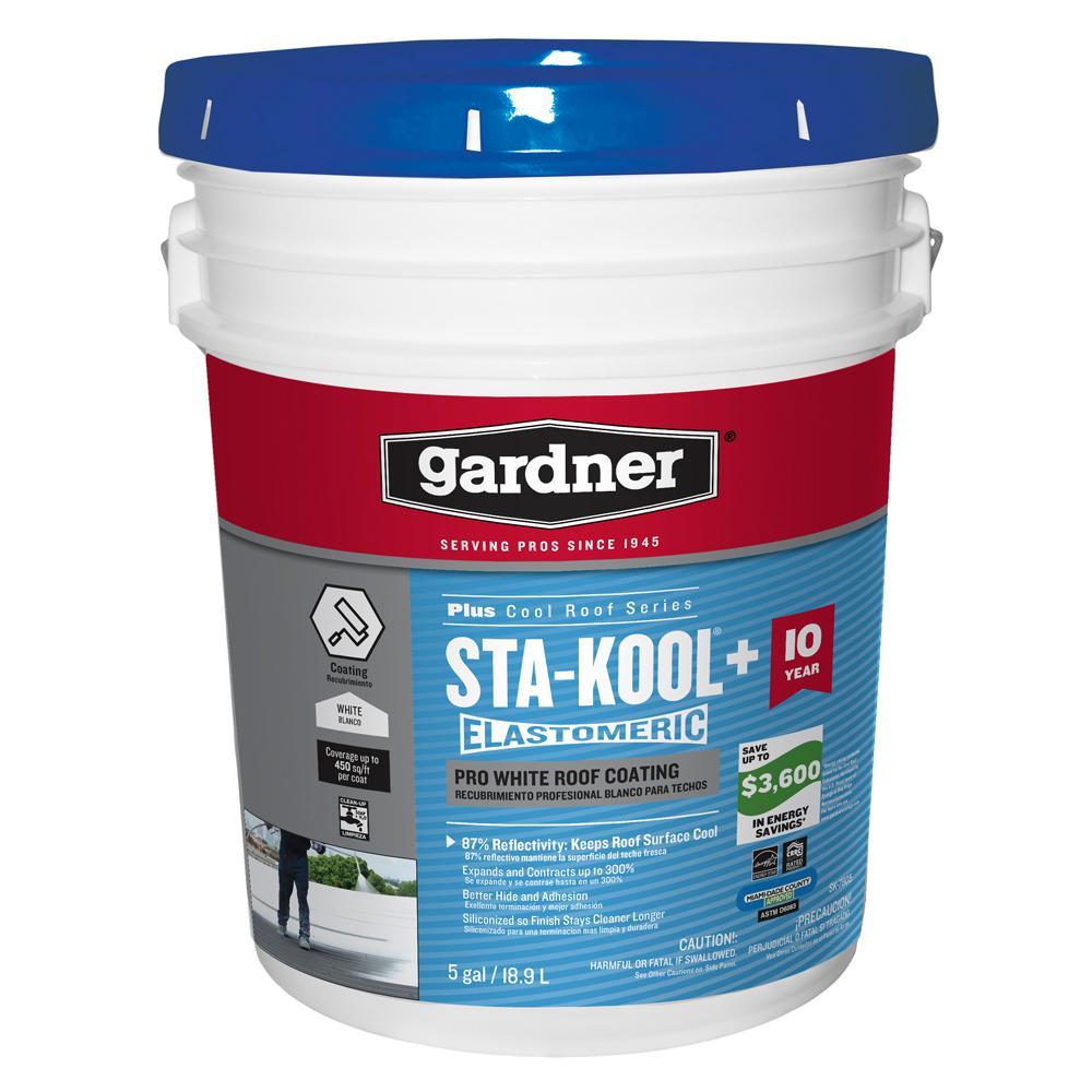 Gardner 5 Gal. Sta-Kool Plus Pro White Roof Coating