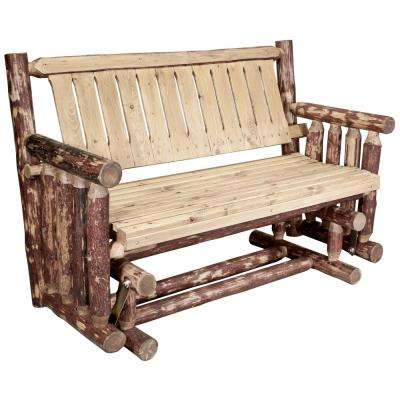 Glacier 2-Person Wood Outdoor Glider