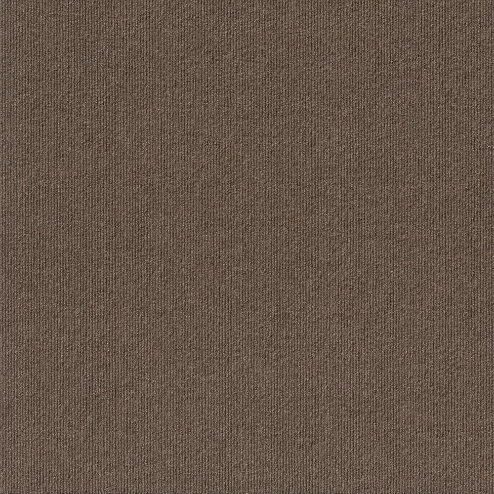 Foss Premium Self-Stick First Impressions Espresso Ribbed Texture 24 in. x 24 in. Carpet Tile (15 Tiles/Case)