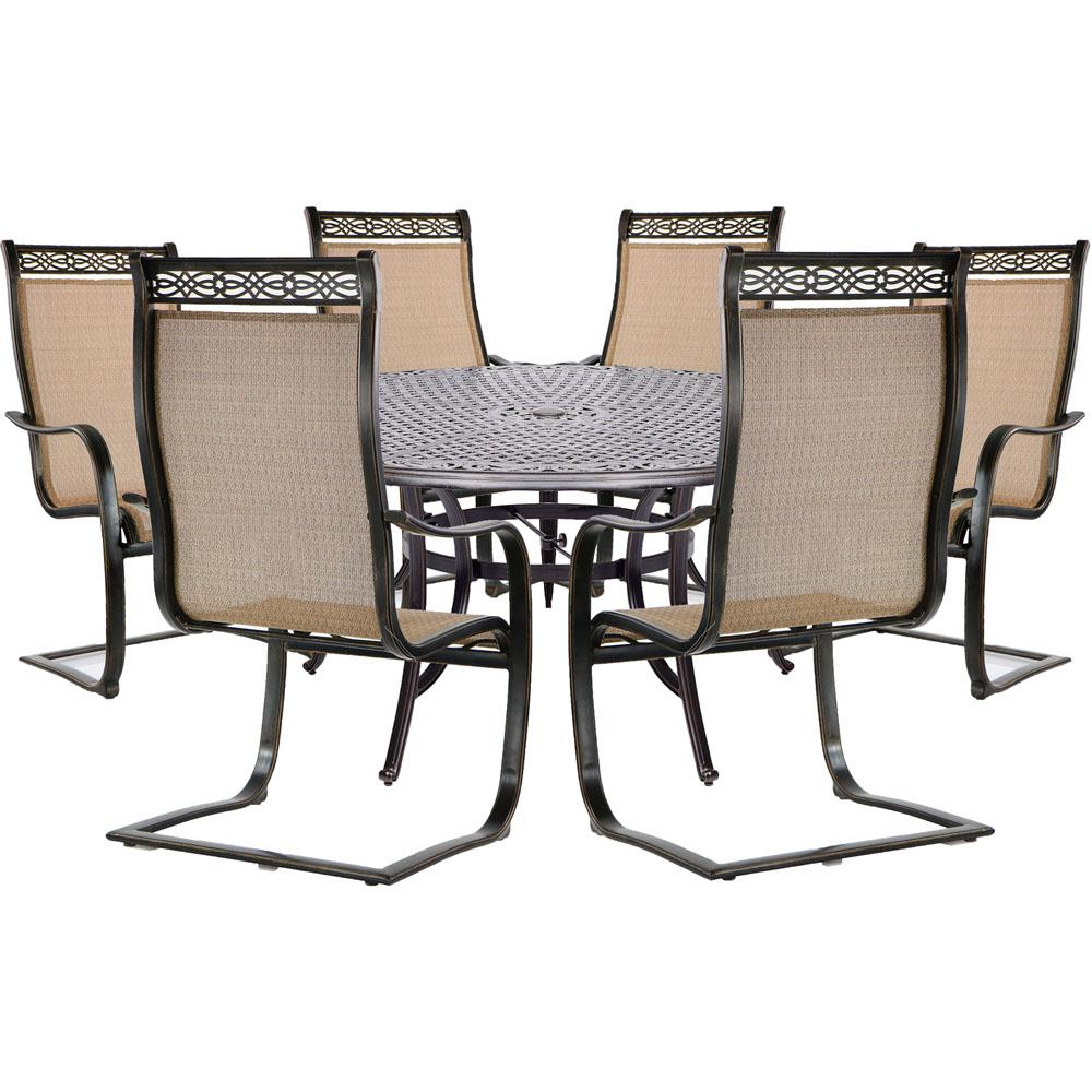 Hanover Manor 7-Piece Dining Set With 6 Sling Spring