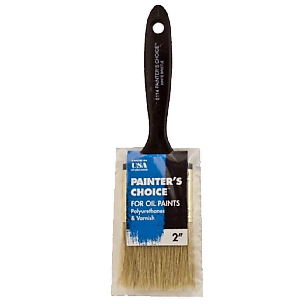 2 in. Flat Painter's Choice White Bristle Brush (12-Pack)