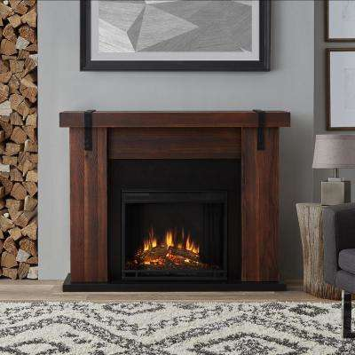 Aspen 49 in. Freestanding Electric Fireplace TV Stand in Chestnut Barnwood