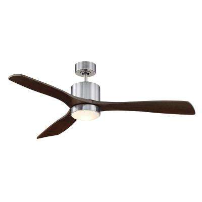 52 in. LED Indoor/Outdoor Brushed Pewter Ceiling Fan
