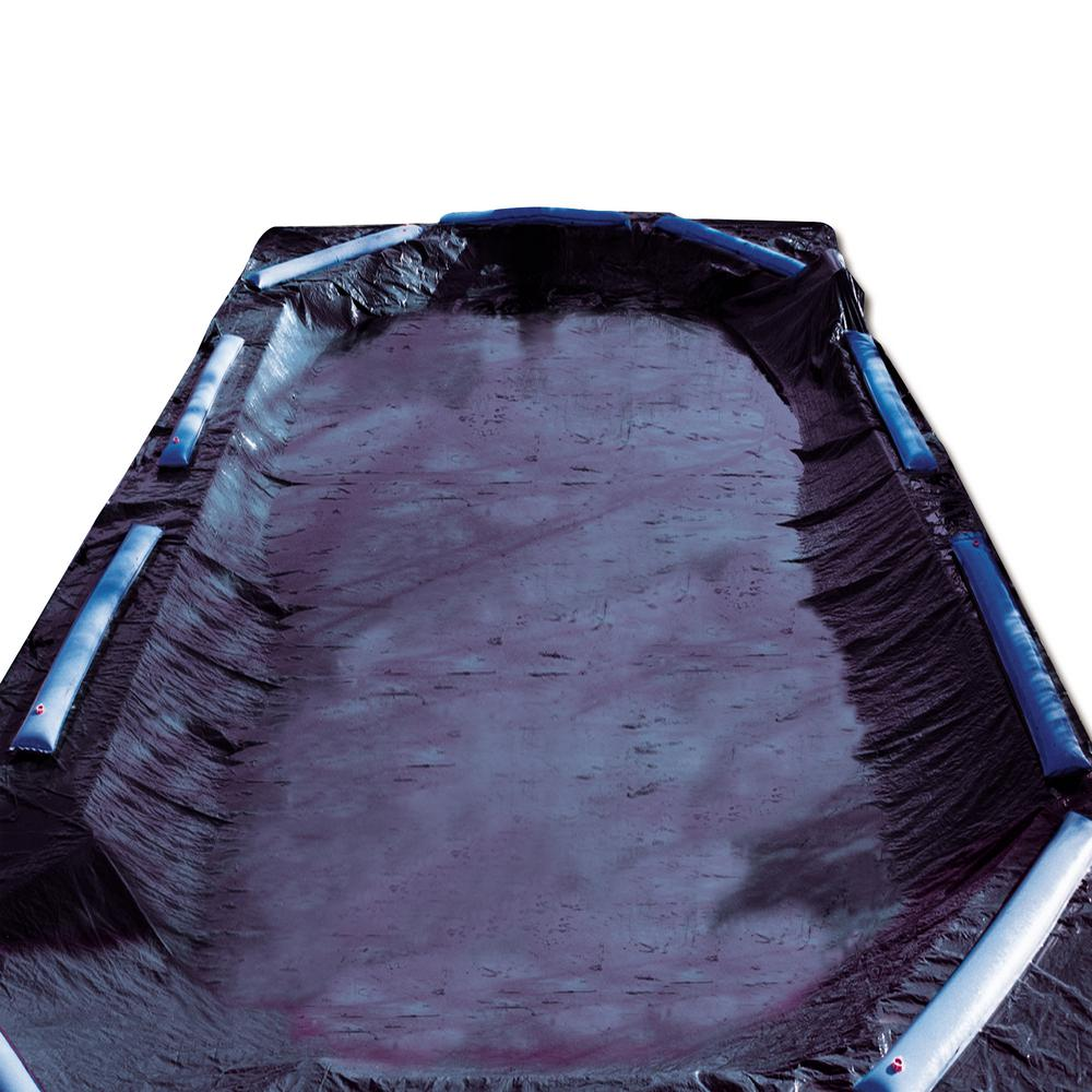Swimline 8-Year 30 ft. x 50 ft. Rectangle Black Economy In-Ground Winter Pool Cover