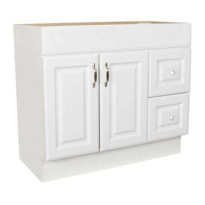 Arkansas 36 in. W x 18.5 in. D x 32.125 in. H Vanity Cabinet Only in White