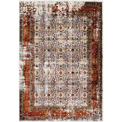 Pepin Burnt Orange 8 ft. x 10 ft. Indoor Area Rug