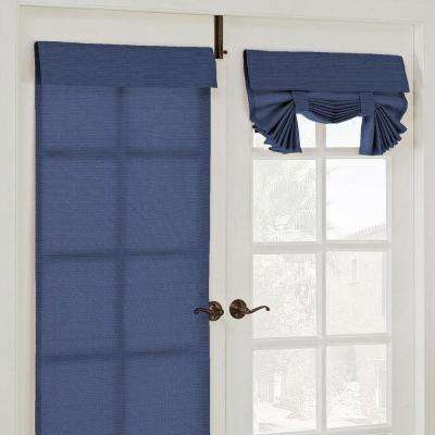 26 in. W x 68 in. L Key Largo Polyester French Door Window Panel in Indigo