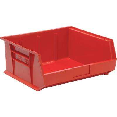 Ultra Series Stack and Hang 8.9 Gal. Storage Bin in Red (6-Pack)