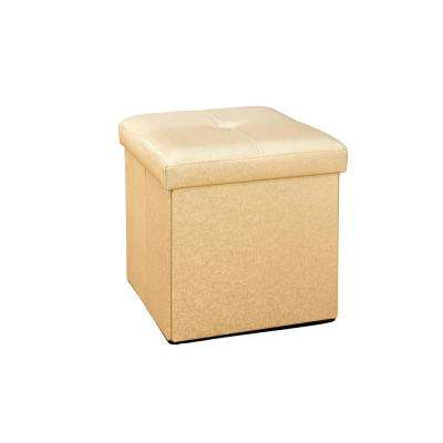 Metallic Gold Single Folding Ottoman