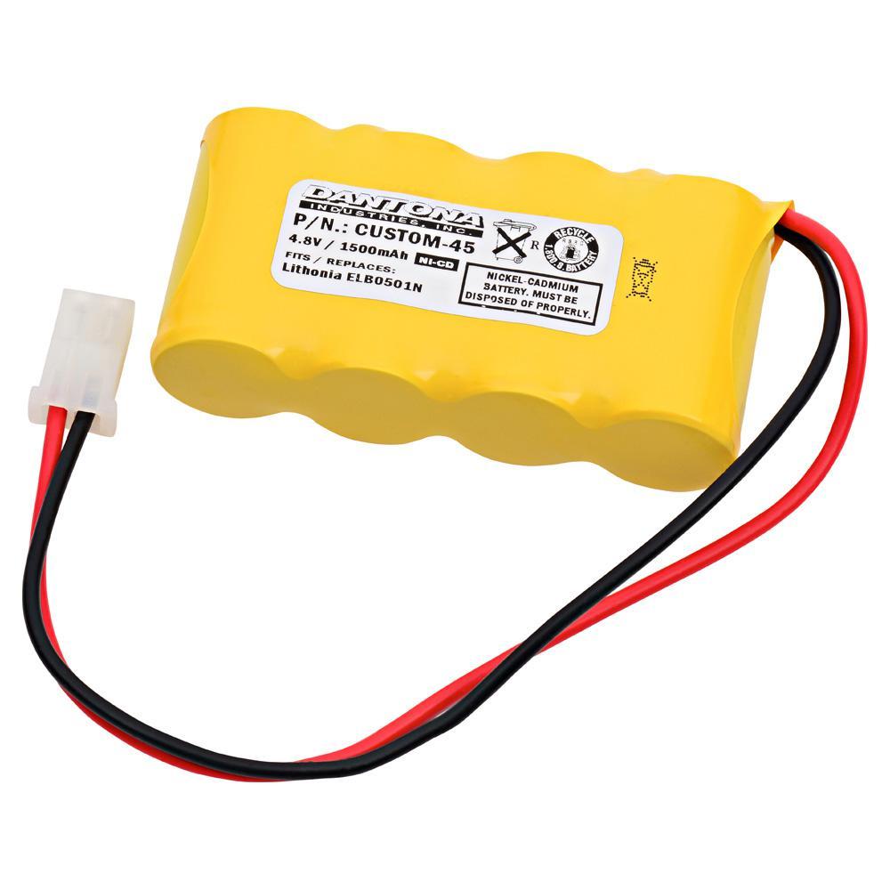 Ultralast Green Dantona 4 8 Volt 1500 Mah Ni Cd Battery For Prescolite E2377 01 00 Emergency Lighting Custom 45 The